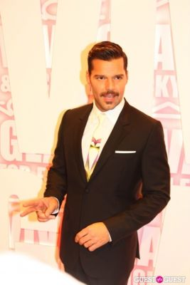 ricky martin in MAC Viva Glam Launch with Nicki Minaj and Ricky Martin