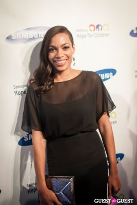 rosario dawson in Samsung Hope For Children Gala 2013