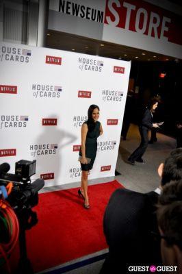 sakina jaffrey in House Of Cards Premiere