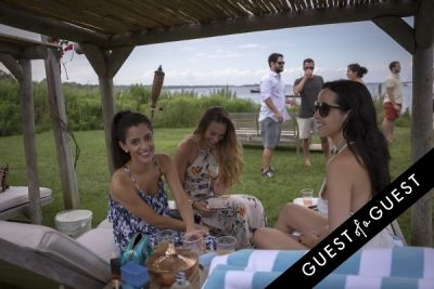 samantha guastella in GUEST OF A GUEST x DOLCE & GABBANA Light Blue Mediterranean Escape In Montauk