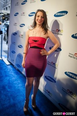 sarah hughes in Samsung Hope For Children Gala 2013