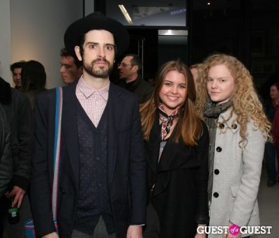 devendra banhart in Clare Rojas Exhibition Opening at PRISM LA