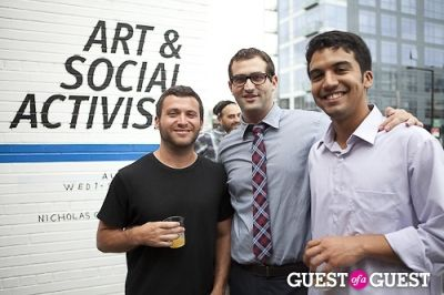 seth klein in Art and Social Activism Exhibition Opening