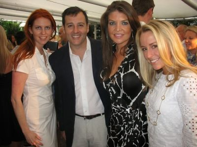 steve knobel in Serafina East Hampton Opening