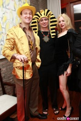 steven rockefeller in R. Couri Hay's Le Bal Vampire II Halloween party at home 2010