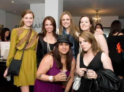 sarah flemming in cmarchuska spring/summer 2009 collection trunk show hosted by Kaight and Entertainment Sixty 6