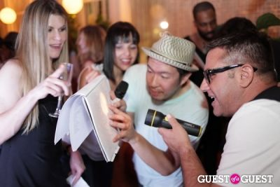 john lin in Suzy Buckley Woodward & John Lin Karaoke Night at the Standard Spa