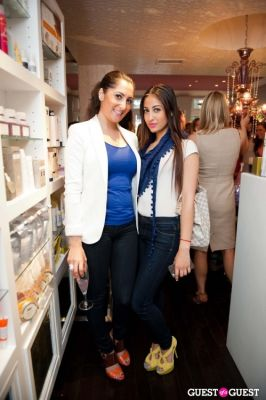 tahera zamanzada in Tinsley Mortimer at Nectar Skin Bar