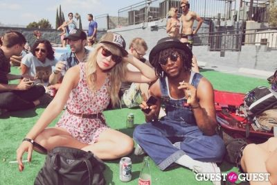 tara rocks in FILTER x Burton LA Flagship Store Rooftop Pool Party With White Arrows