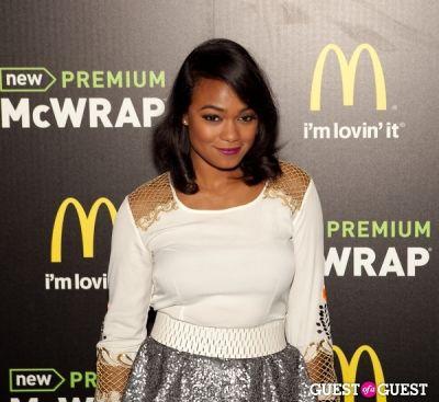tatyana ali in McDonald's Premium McWrap Launch With John Martin and Tyga Performance