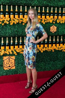taylor erickson in The Sixth Annual Veuve Clicquot Polo Classic Red Carpet