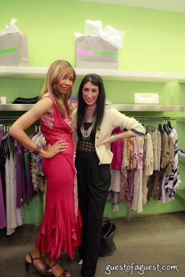tia walker in Sip & Shop for a Cause benefitting Dress for Success