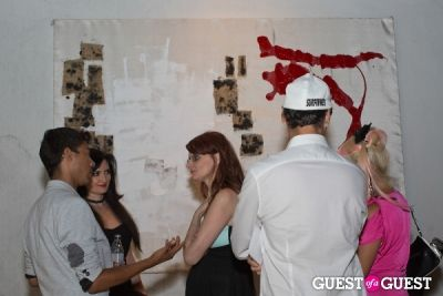 tiffany oswald in Preview Party for Billy Zane's Solo Art Exhibition: