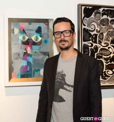 tim biskup in Cat Art Show Los Angeles Opening Night Party at 101/Exhibit