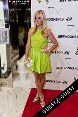 tinsley mortimer in Jeff Koons for H&M Launch Party