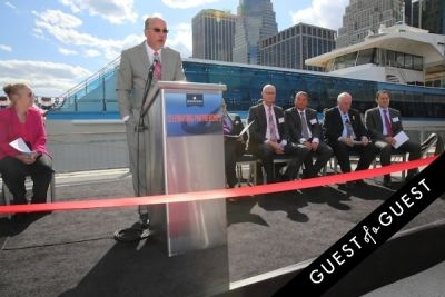tom d-amato in Hornblower Re-Dedication & Christening at South Seaport's Pier 15