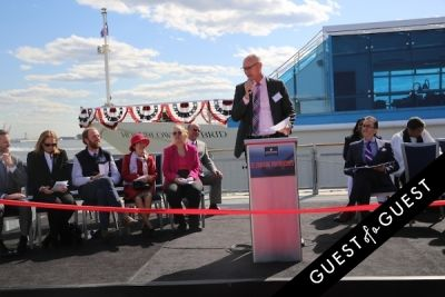 tom legro in Hornblower Re-Dedication & Christening at South Seaport's Pier 15