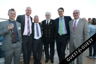 tom le-gro in Hornblower Re-Dedication & Christening at South Seaport's Pier 15