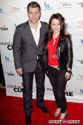 sasha cohen in Stand Up for a Cure 2013 with Jerry Seinfeld