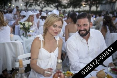trey ditto-and-natalia-tsurikova-ditto in Diner En Blanc NYC 2014
