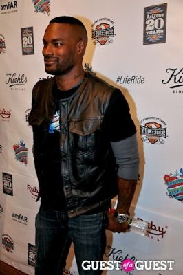 tyson beckford in amFAR And Kiehl's
