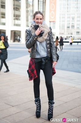 vanessa conraud in NYC Fashion Week FW 14 Street Style Day 7