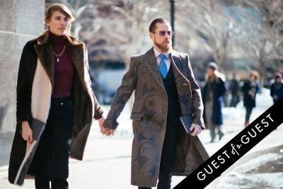 justin o--shea in NYFW Street Style Day 7