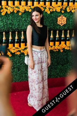 victoria justice in The Sixth Annual Veuve Clicquot Polo Classic Red Carpet
