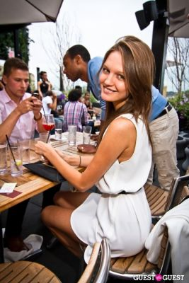 vika kuropyatnikova in Sunset Brunch Club at STK Rooftop