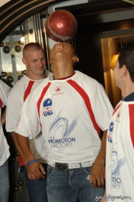 carlos hernandez in USA Homeless Soccer Team Jersey Presentation at Cipriani Wall Street