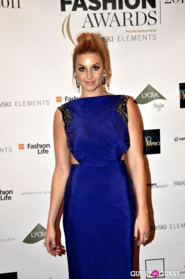 whitney port in WGSN Global Fashion Awards.