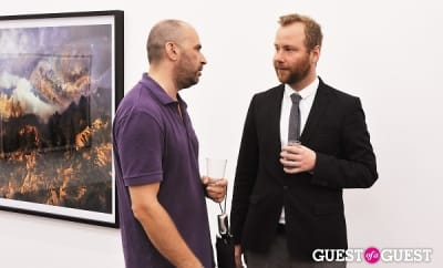 micheal bank-christoffersen in Kim Keever opening at Charles Bank Gallery
