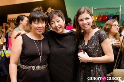 elaine sugimura in Rabeanco at BaubleBar Pop Up Shop