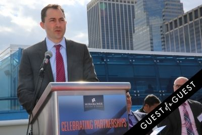 zachary smith in Hornblower Re-Dedication & Christening at South Seaport's Pier 15