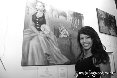 desi sanchez in LWALA artist auction event