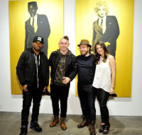 L-R: Artists Knowledge Bennett and MR Herget, Joseph Gross and Lynzy Blair attend the
