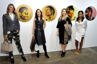 L-R: Lauren Steinberg, Cory Horn, Kimberly Hooshmand and Mashonda Tifrere attend the Art LeadHERS exhibition opening at Joseph Gross Gallery in New York, NY on May 5, 2016.  (Photo by Stephen Smith)