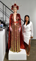 Mashonda Tifrere (R) attends the Art LeadHERS exhibition opening at Joseph Gross Gallery in New York, NY on May 5, 2016.  (Photo by Stephen Smith)