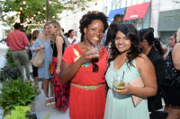 CHICAGO, IL - JULY 22: (L-R): Maya Roberts and Jeethu Oommen photographed during Molly Guy's Chicago Soiree in Bloom curated with Cointreau and Guest of a Guest on Friday, July 22, 2016 at The James Chicago hotel in Chicago, Illinois. (Photo by Randy Belice)