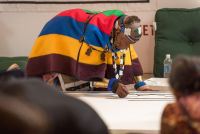 Belvedere Celebrates (RED) and Partnership with South African Artist, Esther Mahlangu at the Dusable Museum in Chicago #99