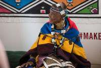 Belvedere Celebrates (RED) and Partnership with South African Artist, Esther Mahlangu at the Dusable Museum in Chicago #118