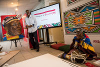 Belvedere Celebrates (RED) and Partnership with South African Artist, Esther Mahlangu at the Dusable Museum in Chicago #120