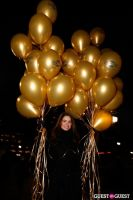 """MARTINI """"LET'S GO"""" SPLASHING THE NYC SKY WITH GOLD BALLOONS #3"""