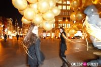 """MARTINI """"LET'S GO"""" SPLASHING THE NYC SKY WITH GOLD BALLOONS #50"""
