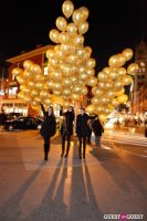 """MARTINI """"LET'S GO"""" SPLASHING THE NYC SKY WITH GOLD BALLOONS #57"""