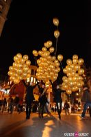 """MARTINI """"LET'S GO"""" SPLASHING THE NYC SKY WITH GOLD BALLOONS #59"""