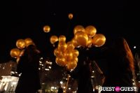 """MARTINI """"LET'S GO"""" SPLASHING THE NYC SKY WITH GOLD BALLOONS #69"""