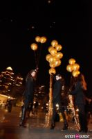 """MARTINI """"LET'S GO"""" SPLASHING THE NYC SKY WITH GOLD BALLOONS #70"""