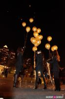 """MARTINI """"LET'S GO"""" SPLASHING THE NYC SKY WITH GOLD BALLOONS #71"""