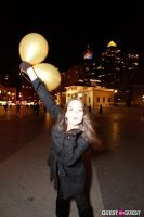 """MARTINI """"LET'S GO"""" SPLASHING THE NYC SKY WITH GOLD BALLOONS #74"""
